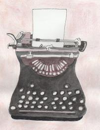 Typewriter drawing - modified 2