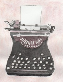 Typewriter drawing - modified 2