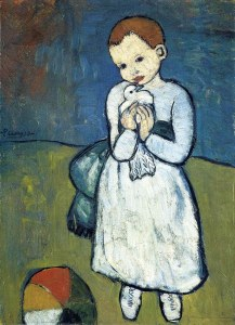 Child with a dove, by Pablo Picasso
